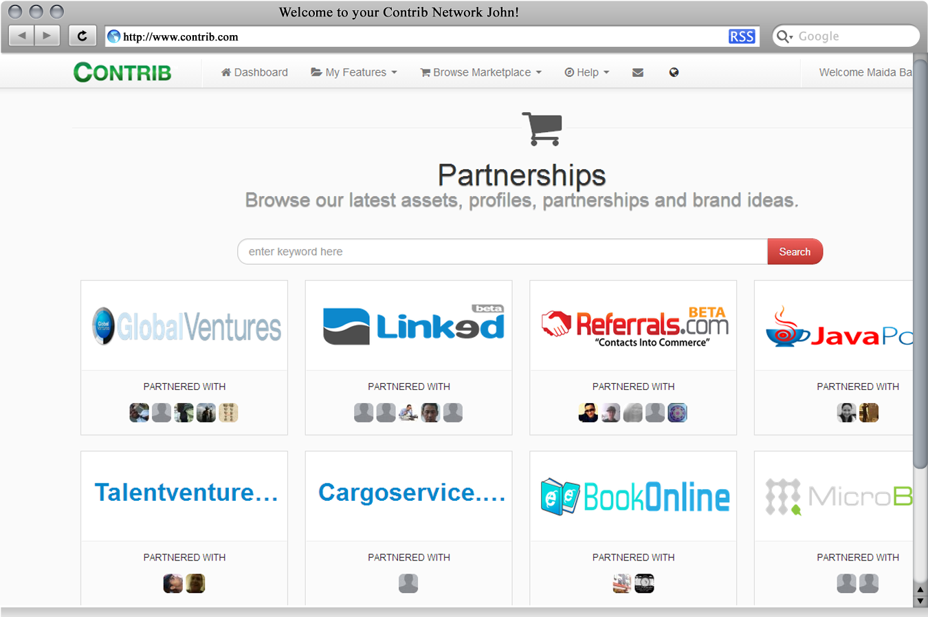 Partnership marketplace