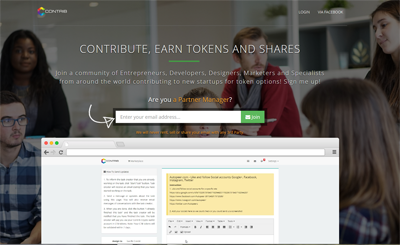 Contrib, Build and Earn CTB Tokens with your next Startup. Join our Network today.
